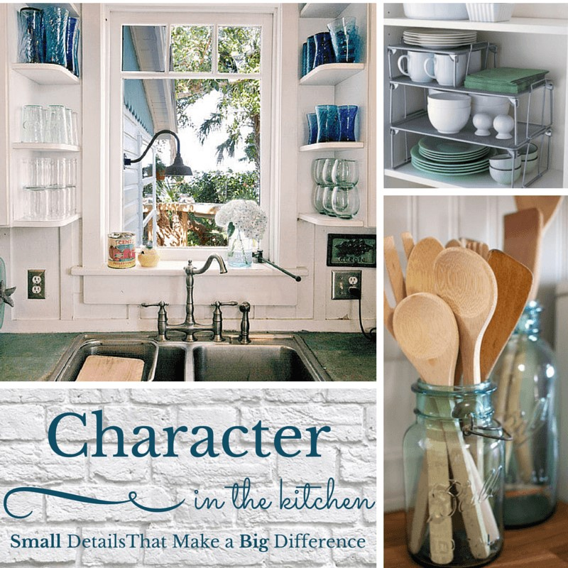 Character in the kitchen collage