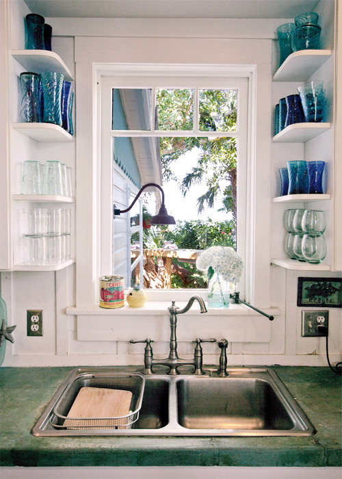 sink window shelving