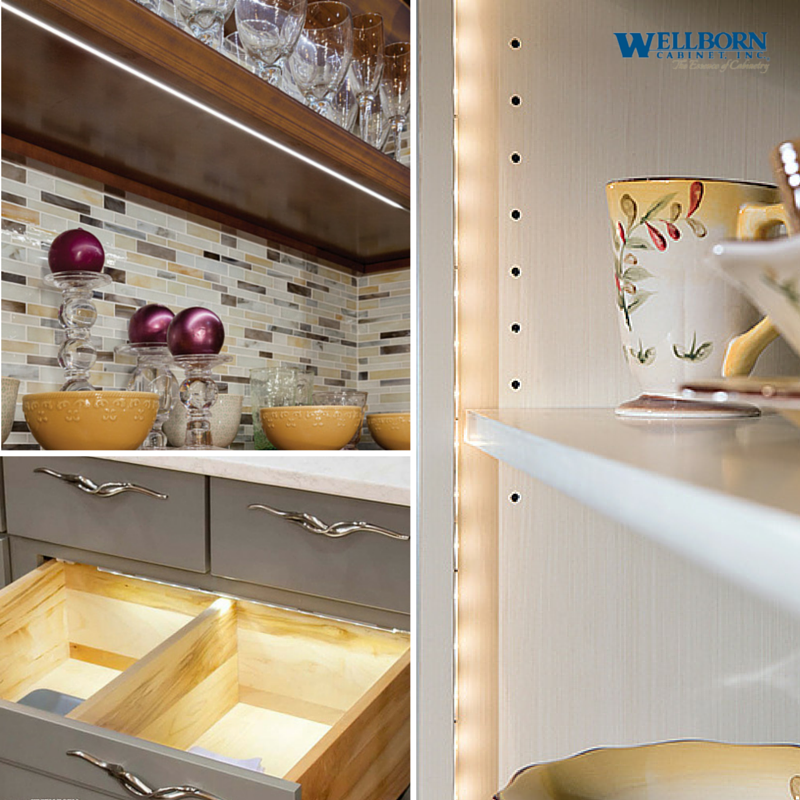 Lighting for under cabinets, in cabinets, and in drawers!