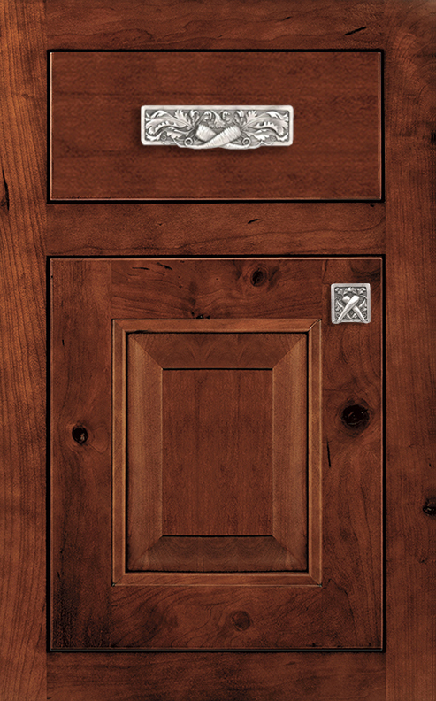 Rose Hall Square Door Style shown in Inset