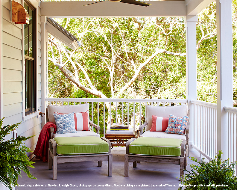 2017 Southern Living Idea House Upstairs Porch Seating