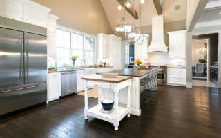 white kitchen cabinetry shaker door style