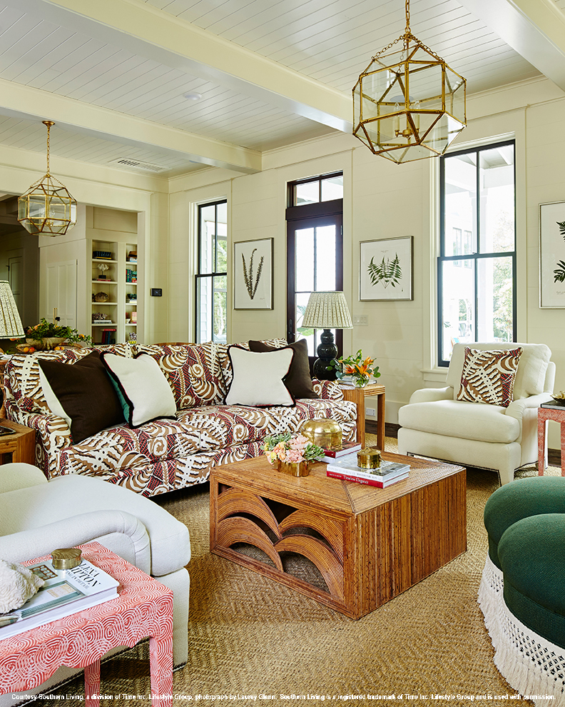 2017 southern living idea house living room