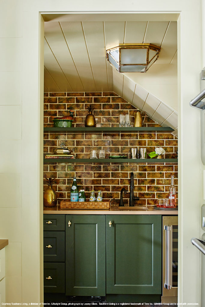 2017 southern living idea house butlers pantry with green cabinets