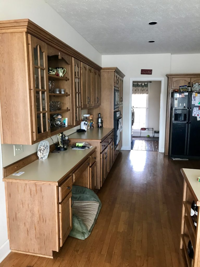 before image of kitchen cabinetry