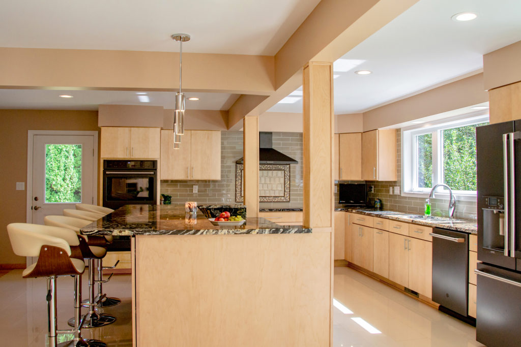 natural maple cabinetry used in kitchen design contest winner