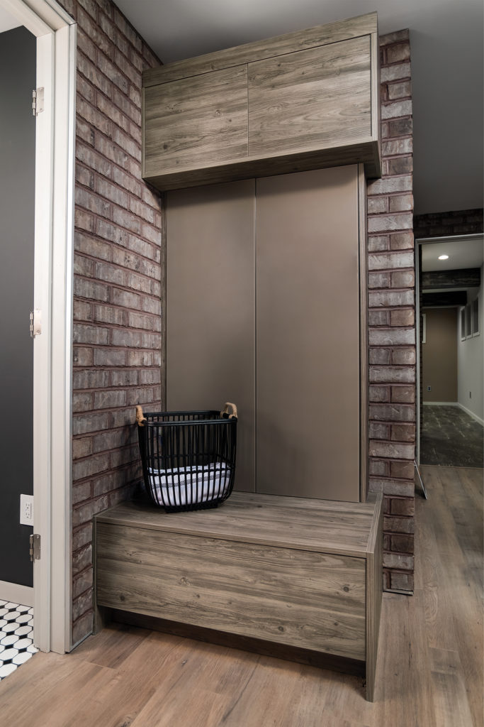 modern mudroom cabinets