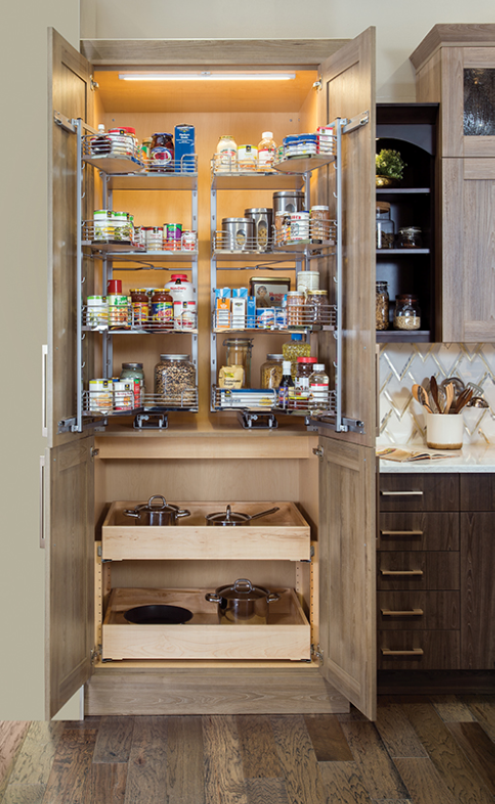 pantry rank with pull out shelves