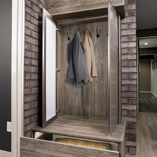 Bench Seat and Wall Cabinet - Mud Room Accessories