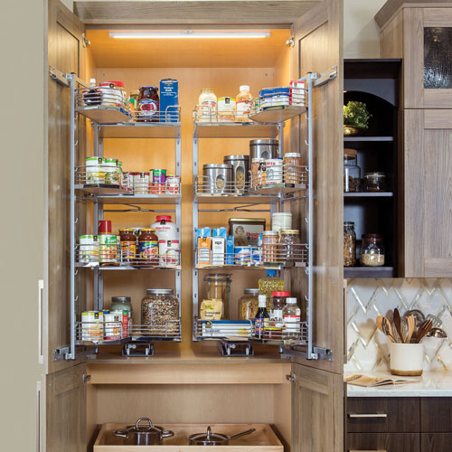 Pantry Accessories, Pantry Cabinets: Utility with Pullouts