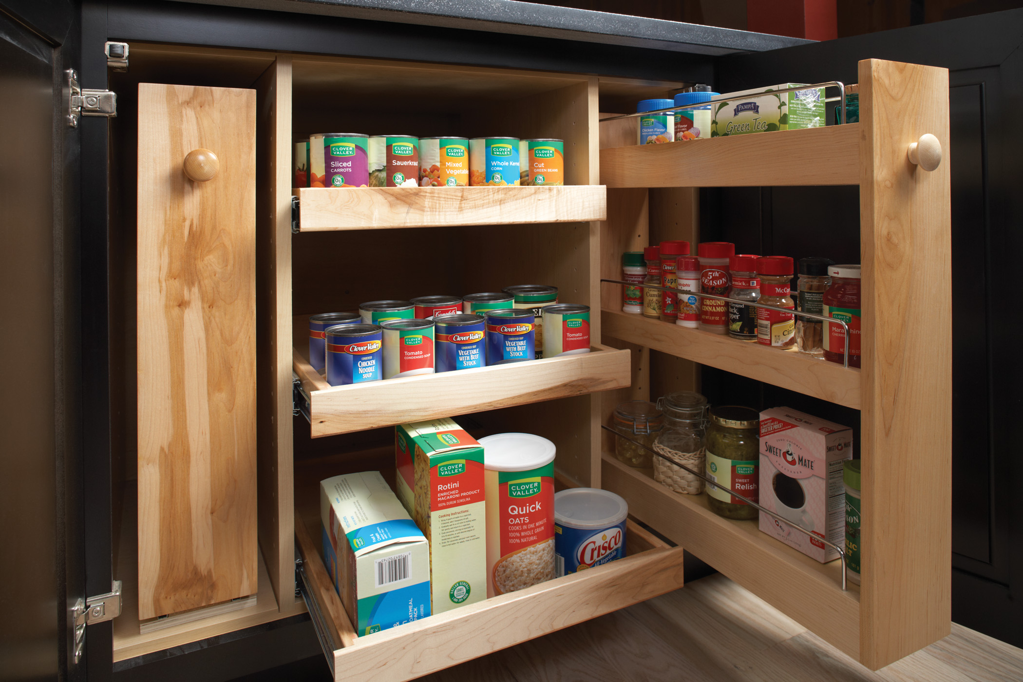 Pull Out Cabinet Drawers Shelves Space Saving Ideas Wellborn Cabinet Blog