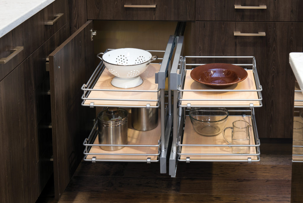 blind corner pull-out storage