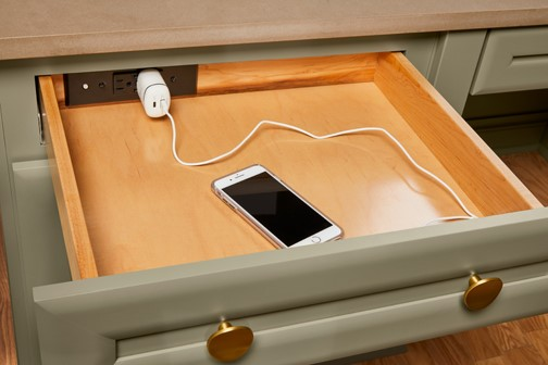 charging station in drawer smart living solutions