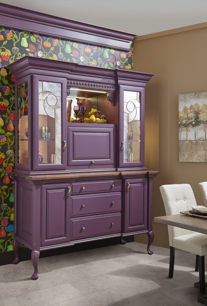 purple hutch diy chalk paint look a like