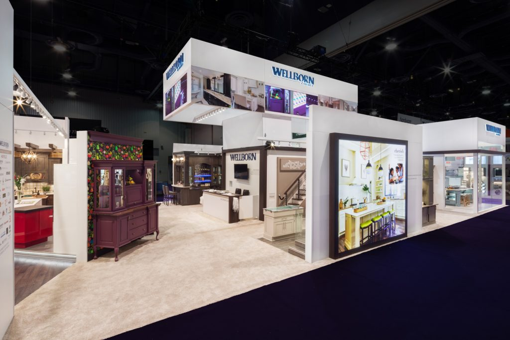 wellborn cabinet kitchen and bath industry show exhibit