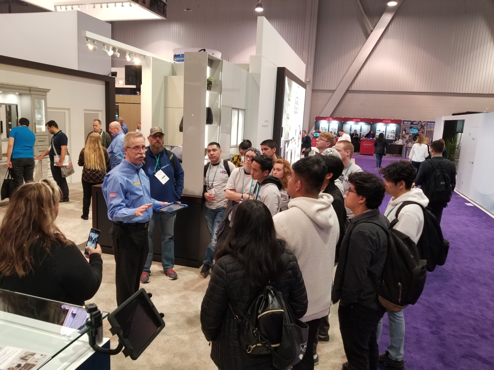 dan kunze nkba high school tours at kitchen and bath industry show