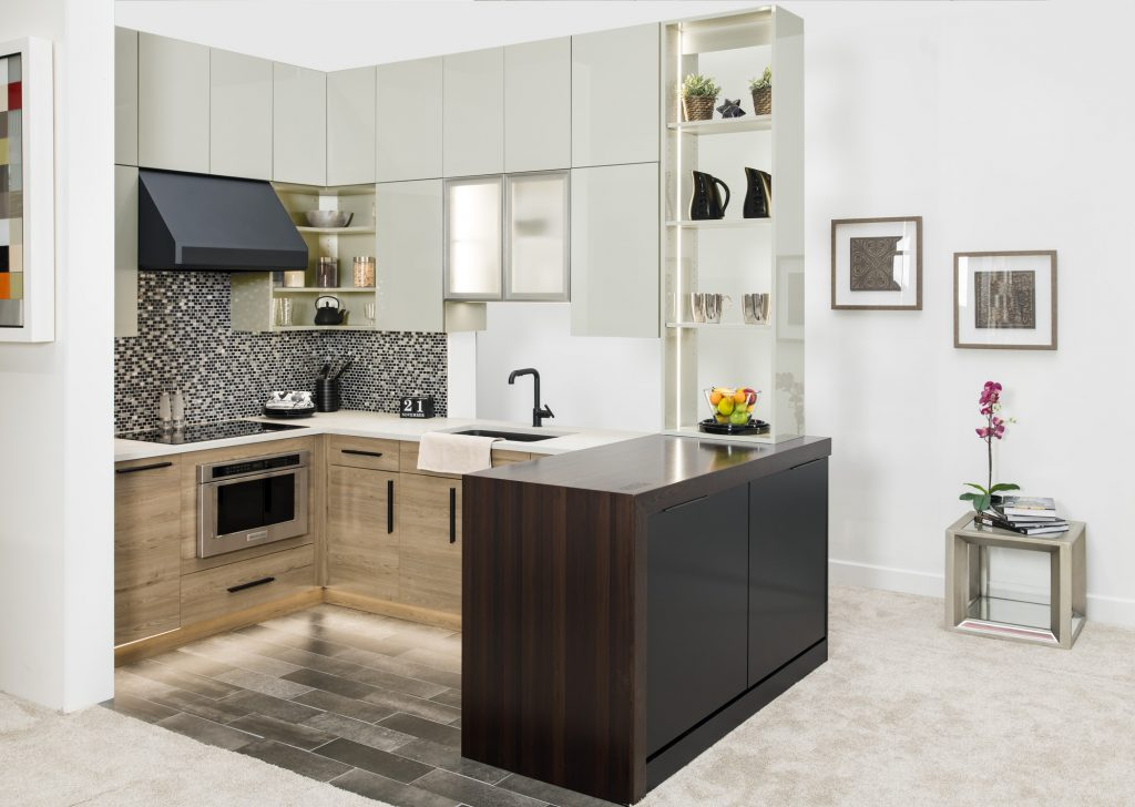 classic contemporary frameless kitchen matte black island color trends