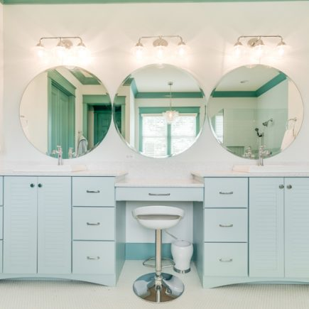 modern bathroom in aqua