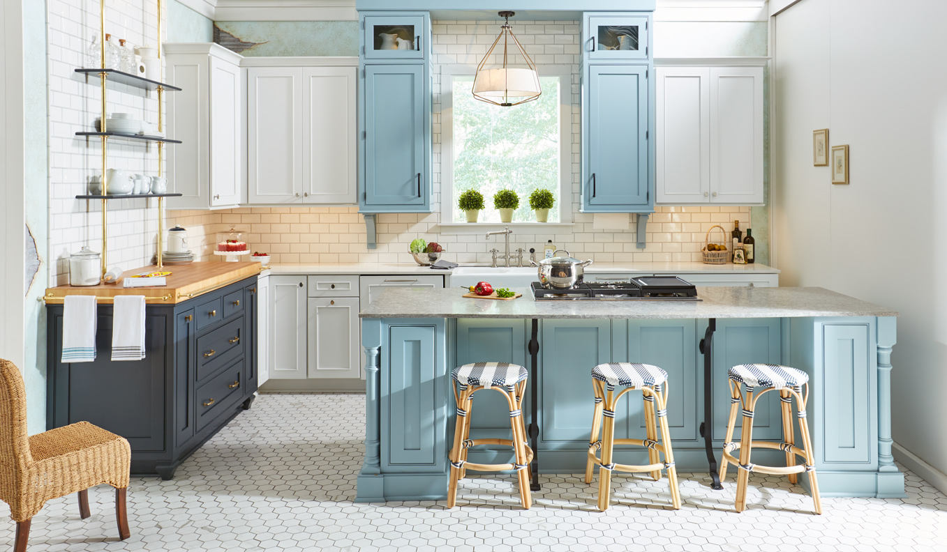 Blue Kitchen Cabinets Blue Kitchen Cabinet Ideas Wellborn Cabinet
