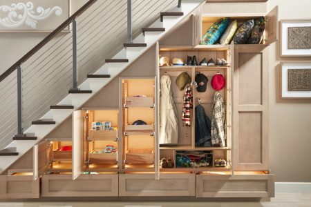 under stair coat storage