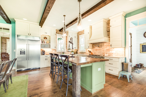 Love Sage Green Kitchen Cabinets, Painted Green Maple Kitchen Cabinets